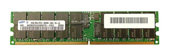 Memory RAM 1x 2GB Samsung ECC REGISTERED DDR2  400MHz PC2-3200 RDIMM | M393T5750BY3-CCC
